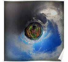 Passing Rain Storm, Sharp Haw - Planet Poster