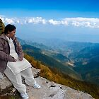 The Tourist watching the Beauty of Tungnath Mahadev Hills. by Mukesh Srivastava