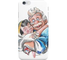 Charcoal and Oil - Geppetto and Pinocchio iPhone Case/Skin