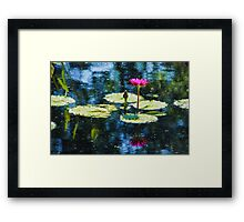 Waterlily Impressions - Dreaming of Monet Gardens Framed Print