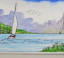 Watercolor Seascape by pkr14
