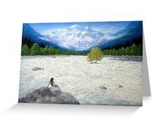 WHITE WATER, MANALI Greeting Card