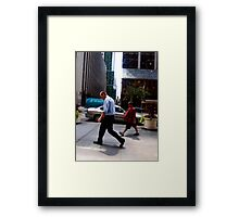 Weight of life Framed Print