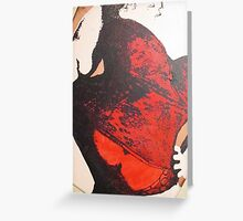 BBW Plus Size Corset Female Painting Greeting Card