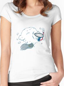 Bear diver Women's Fitted Scoop T-Shirt