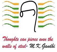 Thoughts of Gandhi by artyrau