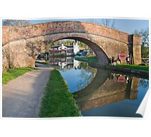 Foxton lock, looking through Poster