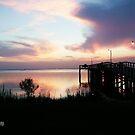 Sunset on Mobile Bay,Alabama by Emily Peak