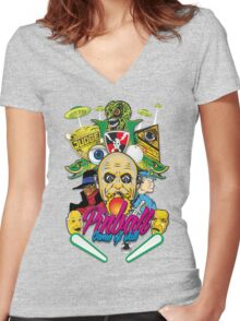 Pinball, Game of skill Women's Fitted V-Neck T-Shirt