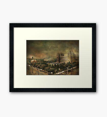 Salt Lake City Framed Print