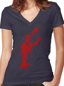 Ash / Axe Women's Fitted V-Neck T-Shirt