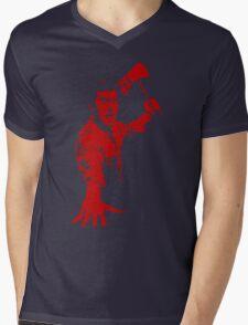 Ash / Axe Mens V-Neck T-Shirt