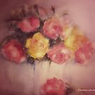 old fashioned roses by aquaarte