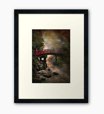 Bridge in Japan Framed Print