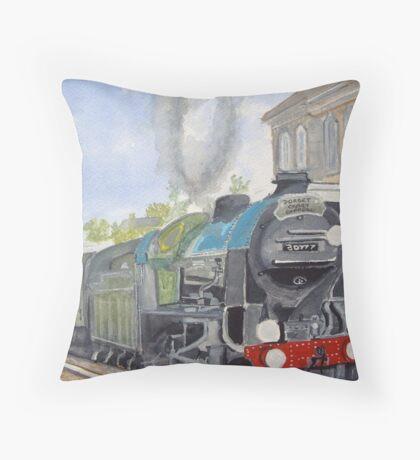 Sir Lamiel  Dorset Coast Express Throw Pillow