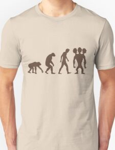 evolution - Three headed Monkey T-Shirt