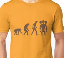 evolution - Three headed Monkey Unisex T-Shirt