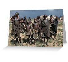 ARBORE VILLAGE - OMO VALLEY Greeting Card