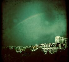 Rainbow over Sofia by nicephore