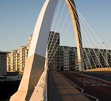The famous squinty bridge in Glasgow by Grant Pennycook