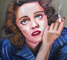 Bette Davis by Paintvalentine