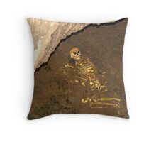 The real Cheddar Skeleton Throw Pillow