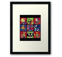 Hearthstone Heroes pop style Framed Print
