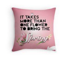 Spring C Throw Pillow