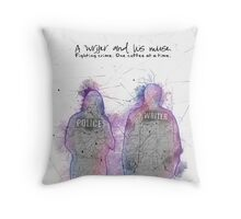 A Writer & His Muse Throw Pillow