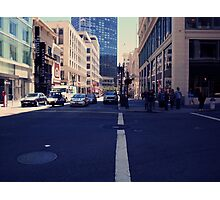 intersection in downtown san francisco Photographic Print