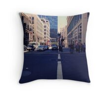 intersection in downtown san francisco Throw Pillow