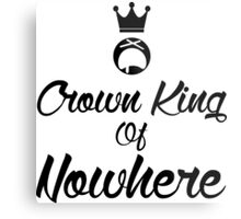 Crown king of Nowhere Metal Print