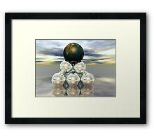 Earth Pedastal Framed Print