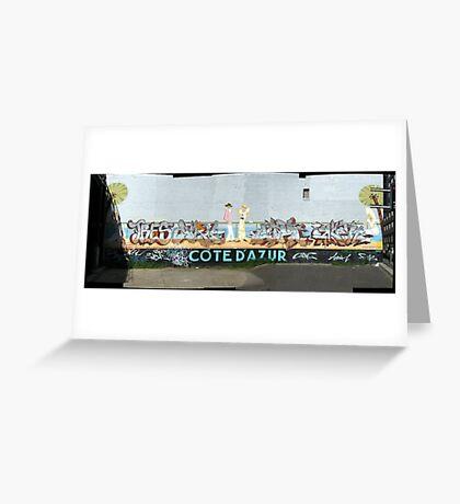melbourne graffiti 1002pano - Cote D'azur Greeting Card