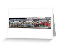melbourne graffiti 1003pano Greeting Card