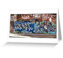 melbourne graffiti 1004pano - Ikon Greeting Card