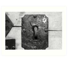 Through the keyhole Art Print