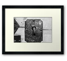 Through the keyhole Framed Print