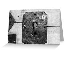 Through the keyhole Greeting Card