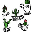 Cactus in Teacups by fluffymafi