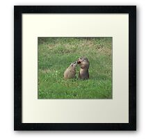 I love you, Mommy, can I have your tomato? Framed Print