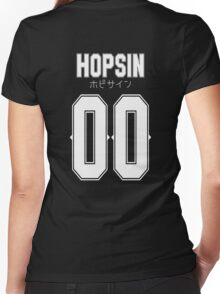 Hopsin 00 White Text Women's Fitted V-Neck T-Shirt