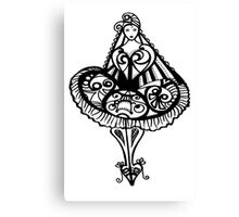Party Girl - Black and White Canvas Print