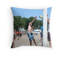 Jumping for the Game Winning Point Throw Pillow