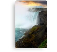 Sunset on Niagara Falls Canvas Print