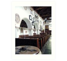 Inside Hawkshead Church, Lake District, UK. Art Print