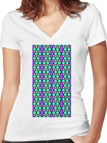 Hexatessel - seamless Women's Fitted V-Neck T-Shirt