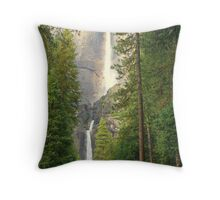 """Yosemite Falls"" Throw Pillow"