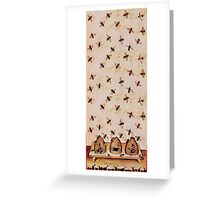 HONEY BEES AND BEE HIVES ,BEEKEEPER Greeting Card