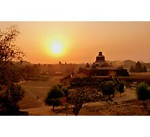 Mysterious Mrauk Oo at dusk Photographic Print
